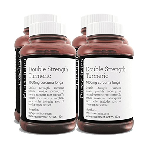 Double Strength Turmeric - Massive 1000mg x 720 Tablets - 200% More...