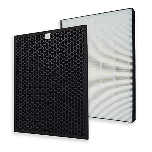 PUREBURG Replacement HEPA Filters and Activated Carbon Filter Set Compatible with Sharp FZ-F60HFU FZ-F60DFU Fits Sharp FP-F60UW FP-F60U-W Air Purifiers