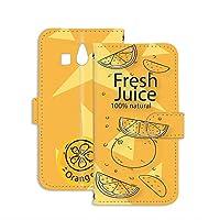 スマホケース 手帳型 ミラータイプ シンプルスマホ3 509SH 用 パッケージ・オレンジ orange ジュースパック フェイクデザイン シャープモバイル SoftBank スタンド スマホカバー 携帯カバー juice 00l_109@05m