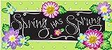 "Evergreen Flag Spring Has Sprung Decorative Rubber and Polyester Sassafras Switch Door Mat - 22""W x 10' H"