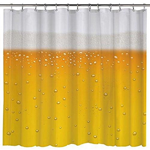 BATMAN Z872535 Duschvorhang Bier Beer O'Clock, Schwarz
