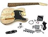 Solo TCK-10 DIY Electric Guitar Kit With Ash Burl Top