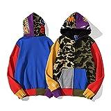 VMSM Bape - Sudadera con capucha y cremallera con diseño de camuflaje