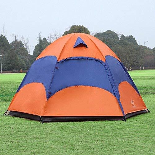 RYP Guo Outdoor Products Outdoor 3-4 Personnes tentes de Camping, Doubles tentes de Loisirs hexagonales, Ruban Solaire imperméable à l'eau Protection Solaire, Ventilation de Ventilation Mesh Polyeste