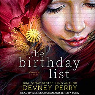 The Birthday List                   By:                                                                                                                                 Devney Perry                               Narrated by:                                                                                                                                 Melissa Moran,                                                                                        Jeremy York                      Length: 10 hrs and 35 mins     80 ratings     Overall 4.4