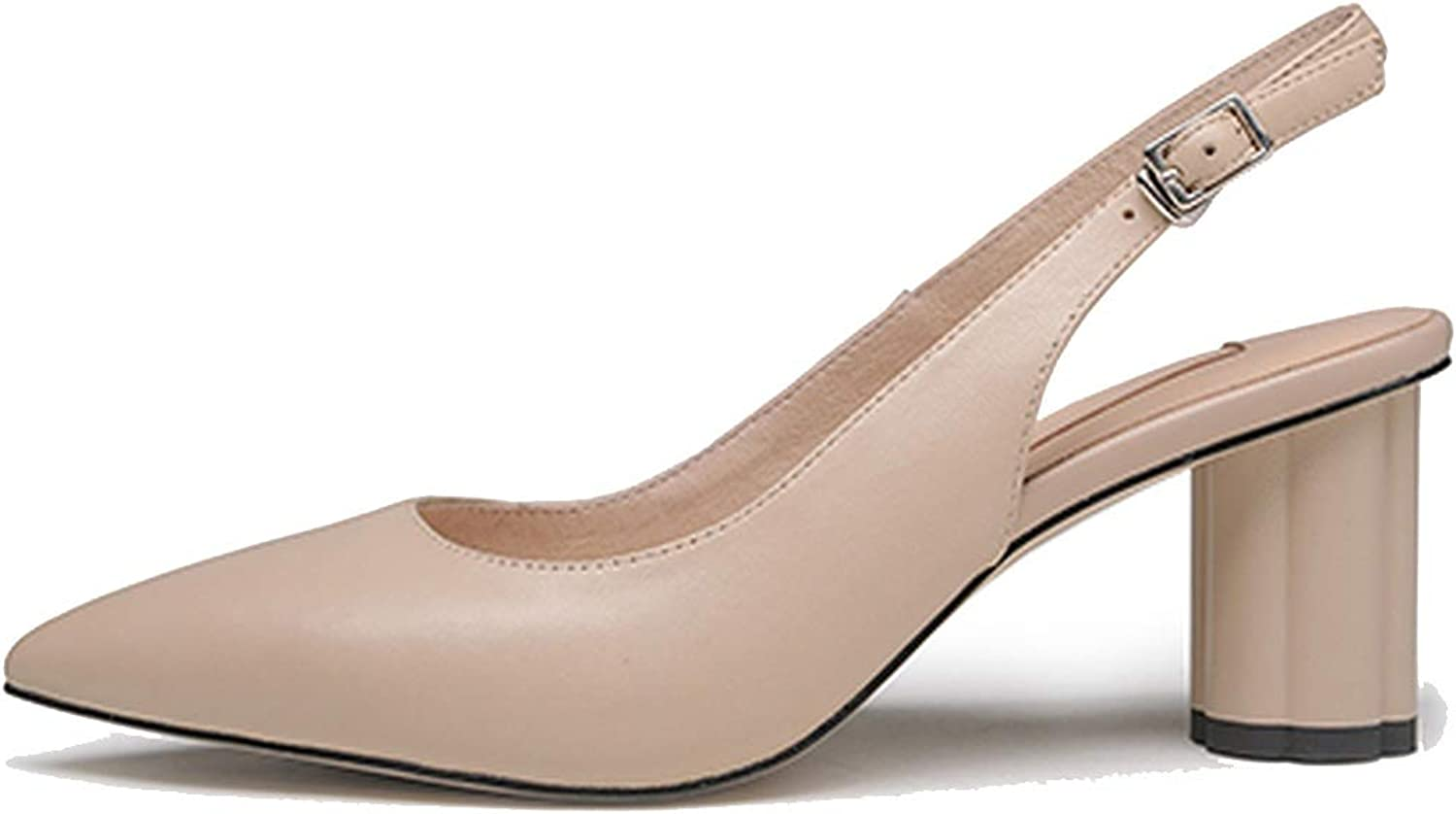 Pumps Spring Green Pointed Toe Handmade Round Heels shoes Woman Party Lady Pumps Nude,6.5