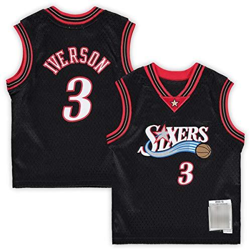 DODE Camisetas de baloncesto personalizadas # 3 negro, camiseta infantil retirado jugador transpirable ropa deportiva para niños
