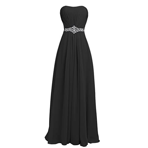 aeb58a9a8d4b FAIRY COUPLE Women's Strapless Lace up Back Bridesmaid Evening Formal Maxi  Dresses