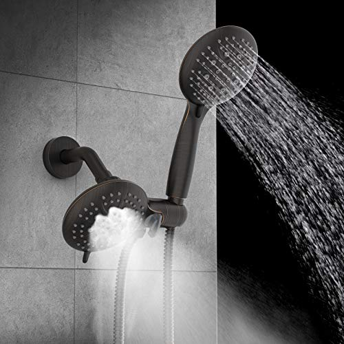 SR SUN RISE Shower System with Handheld Showerhead /& Rain Shower Combo Set High Pressure 35-Function Dual 2 in 1 Shower Faucet with Valve patented 3-way Water Diverter in All-Oil Rubbed Bronze
