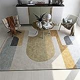 Alfombras Comedor Alfombras Para Terrazas Amarillo gris abstracto geométrico moderno salón comedor salón accesorios para habitación de niños pasillo antideslizante resistente al desgaste Alfombras Coc