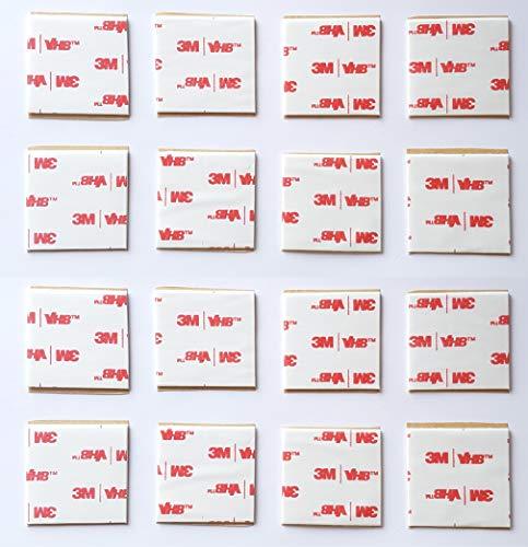 16 x blanc adhésif double face en mousse, fabriqué par 3 m   40 mm x40 mm carrés