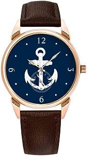 Fashion Waterproof Watch Minimalist Personality Pattern Watch - 463.WhiteBlue Nautical Anchor Symbol