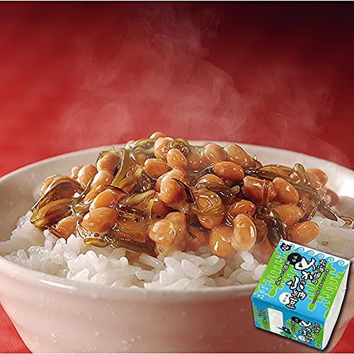 【くま納豆】北海道のめかぶ納豆 10個 (1個2パック入り) 塩?のうま味 極小粒 納豆 ごはんのお供冷凍保存可能