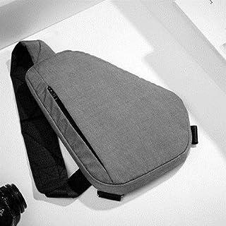 TT WARE Unisex Men Hidden Crossbody Shoulder Geometry Bag Anti Theft Sport Chest Multifunction Backpack-Grey