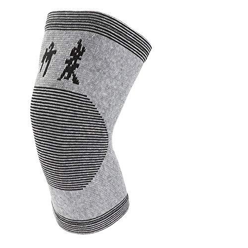 JFYCUICAN 1 PC Thin Elastizität kneepads Knieschützer Unterstützung Hautfarbe Relief Prevent Arthritis Sport-Knie-Schutz Pads Brown (Color : Dark Grey, Size : S)