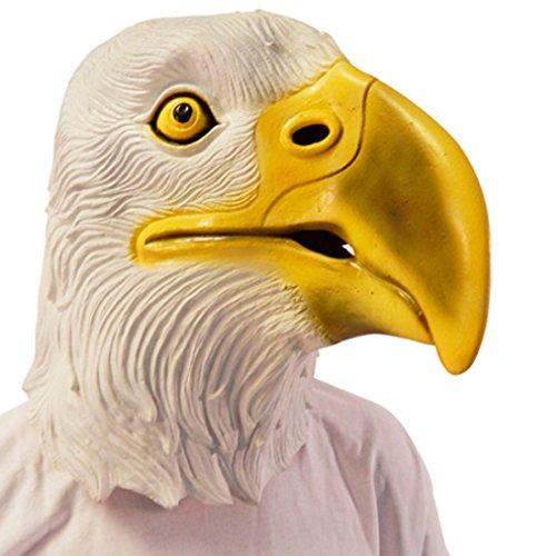 Amakando Tiermaske Vogel Adler Maske Vogelmaske Geier Adlermaske Raubvogel Eagle Mask Faschingsmaske Wappentier