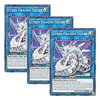 【 3枚セット 】遊戯王 英語版 LDS2-EN034 Cyber Dragon Sieger サイバー・ドラゴン・ズィーガー (ノーマル) 1st Edition