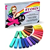 SYOSIN Haarkreide, Haar Colorationen, 24 Farben Temporäre Haarfarbe, Colorful Professional...
