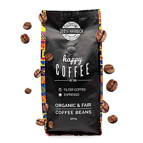 Happy Coffee Bio Filterkaffee 1kg [Chiapas, 2x 500g] I Frische fair-trade Kaffeebohnen direkt aus Mexiko I Arabica Kaffee ganze Bohnen I Coffee beans für Filtermethoden