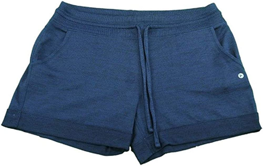 Active Life Womens Size Small High Performance Wicking Shorts, Navy/Heather Navy
