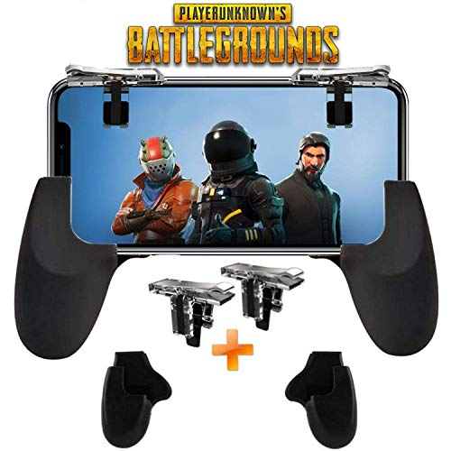 Mobile Game Controller [Upgrade Version] Mobile Gaming Trigger for PUBG/Fortnite/Rules of Survival Gaming Grip and Gaming Joysticks for 4.5-6.5inch Android iOS Phone (Mobile Game Controller?)