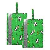 Hunihuni - Bolsa de viaje para zapatos de fútbol, impermeable, portátil, organizador de zapatos con cremallera, 2 unidades