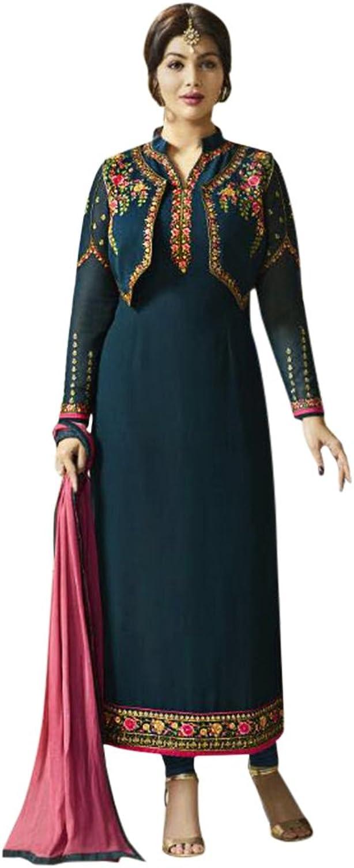 Bollywood Straight Dresses for women Salwar Kameez Ceremony Wedding 906 9