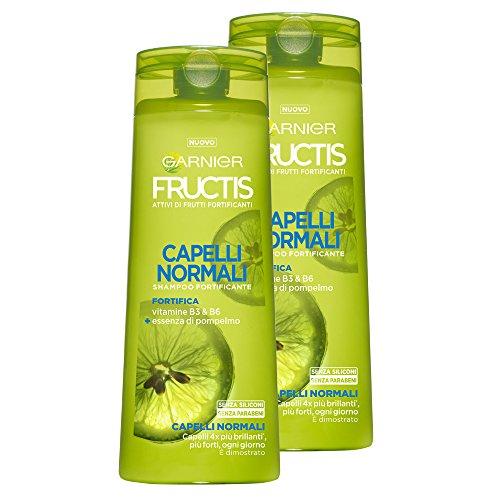 Garnier Fructis Shampoo Haar mit Vitamin B3und B6, ohne Silikone und ohne Parabene, ohne Parabene, 250ml–3Packungen von 2Einheiten