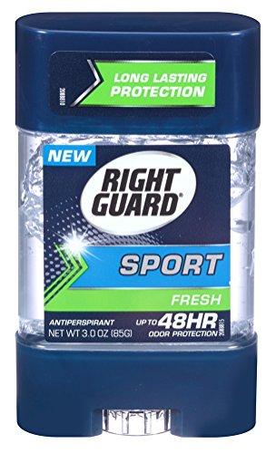 Right Guard Sport 3D Geruch Verteidigung, Anti-Transpirant Deodorant Clear Gel, Frisch 3 oz (3er-Pack)