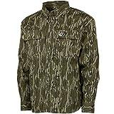 Mossy Oak Cotton Mill 2.0 Long Sleeve Camo Hunting Shirts for Men, X-Large, Original Bottomland