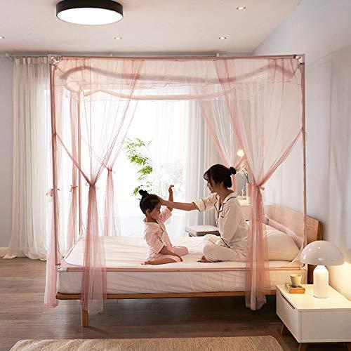 MosquiterasMosquitera anticaída infantil doméstica cama de 1,8 m cama de descanso de 1,5 m yurta cortina de cama de bebé infantil Pasta de frijoles romántica Cama de 1,5 m (5 pies)
