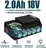 Immagine 2 orfeld trapano avvitatore batteria accessori