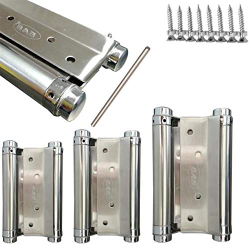 2x Scharnier Pendeltür Pendeltürband Edelstahl - Stabile Scharniere für Schwingtüren & Pendeltüren in zwei verschiedenen Größen (12,5 cm)