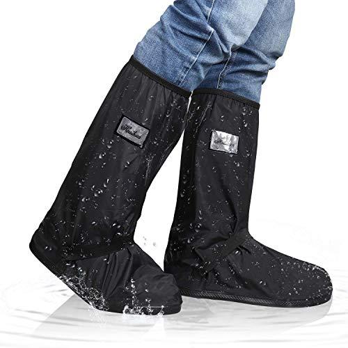 Wiederverwendbare wasserdichte Überschuhe für Regen Schnee, rutschfeste Regen Boot für Männer Frauen, Schuh-Schutz für Indoor Outdoor, 5 Größen Wahl (1 Paar) (XXL)