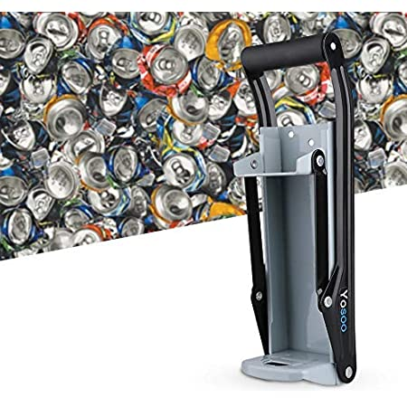 Compacteur Canette et Bouteille Smasher de Bi/ère de Soda Fix/é au Mur en M/étal R/ésistant Outil de Recyclage /écologique pour la Maison Broyeur de Canettes en Aluminium de 16 oz et Ouvre-Bouteille