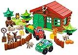 Jouets Ecoiffier -3040 - La ferme maison forestière Abrick – Jeu de construction pour enfants – Dès 18 mois – Fabriqué en France