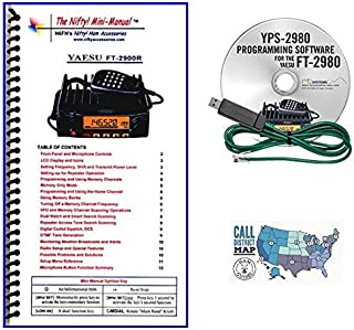Yaesu FT-2980R Accessory Bundle - 3 Items - Includes RT Systems Programming Software/Cable Kit, Nifty! Accessories Mini-Manual and Ham Guides TM Quick Reference Card