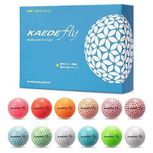 KAEDE(カエデ)ゴルフボールFLY12色セット1ダース(12個入り)