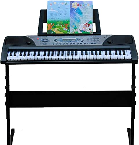 LIUFS-Elektronisches Klavier Kinder Keyboard 61-Tasten-Multifunktions-Erwachsenen-LCD-Anf er-E-Piano Instrument Keyboard + Piano