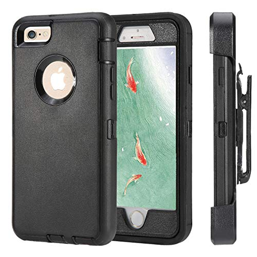 iPhone 6 Case, iPhone 6s [Heavy Duty Protection] [with Kickstand] 4 in 1 Rugged Shockproof Cover Holster Case with Built-in Screen Protector for Apple iPhone 6/6S