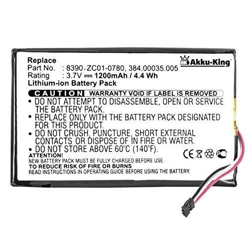 Akku-King Akku kompatibel mit Navigon 384.00035.005, 8390-ZC01-0780 - Li-Ion 1200mAh - für 40 Easy, 40 Plus, 40 Premium