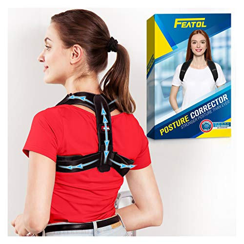 Posture Corrector for Men and Women - Adjustable Back Brace Neck / Back / Shoulders / Spine Pain relief - Comfortable Back Straightener / Posture Trainer to provide back support (L/XL)