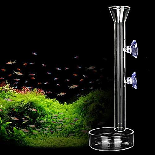 AnxunJim Shrimp Feeding Tube and Dish,Clear Crystal Glass Shrimp Feeder Tube Tray for Fish Tank Aquarium Shrimp (10')