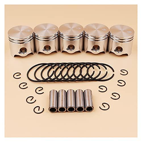 ZRNG 5pcs / Lote 35mm pistón de pistón Anillos Kit en Forma para stihl fs120 fs120r fs300 bt121 FS 120 300 brushcutter Hierba Recortadora repuestos
