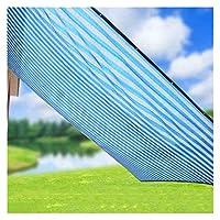 シェードネット日焼け止めオーニングバルコニーパティオガーデニングはプルロープでAホールごとに1メートルがあるエッジング暗号シェーディング断熱用品 (Color : BLUE, Size : 2*5 M/79*197 INCH)