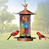 XDW-GIFTS 2020 Newest Solar Wild Bird Feeder Hanging for Garden Yard Outside Decoration, Waterproof Mosaic...