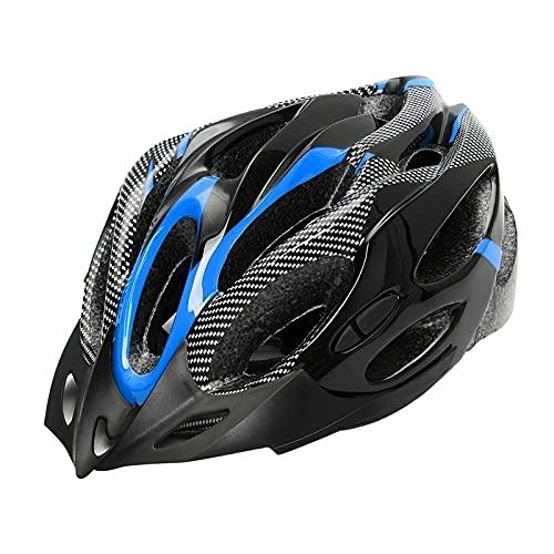 Perfeclan Casco de Bicicleta para Adultos, Casco de Seguridad para Bicicleta de Carretera de montaña para Hombres y Mujeres 21 Rejillas Casco de Choque de - Azul Negro 🔥
