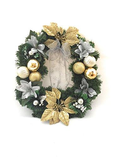 45,7cm Deluxe oro a mano porta ghirlanda di Natale decorazione