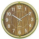 ランデックス(Landex) 掛け時計 アナログ 連続秒針 29.5cm MOKUZO 木枠 グリーン YW9152GR