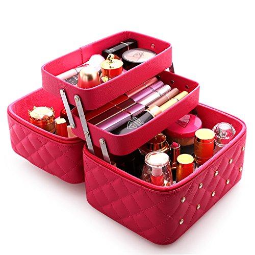 Boîtes Cas cosmétique de Haute capacité Sac cosmétique matériel PU Emballage Multifonctionnel de Rangement Portable (Multicolore en Option) 25 * 19 * 21 cm à Bijoux et présentoirs